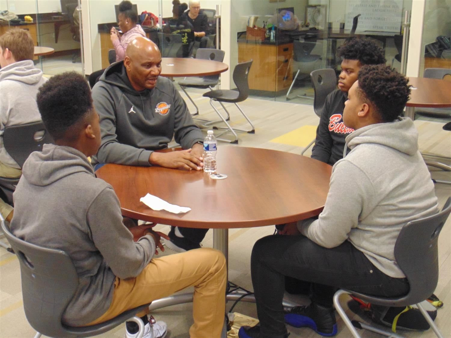 Former NBA Player Micheal Curry Visits Career Academy